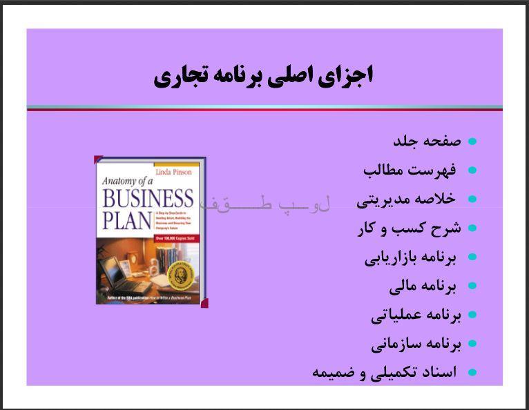 طرح کسب وکار